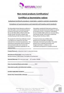 Certifikat za bezmetalne radove - emax-1